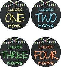 Personalised Monthly Baby Stickers, Milestone Stickers, Baby Shower Gift_B021