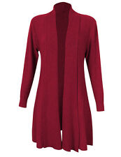 Women's Vintage Loose Long Sleeve Drapped Open-Front Shawl Collar Knit Cardigan