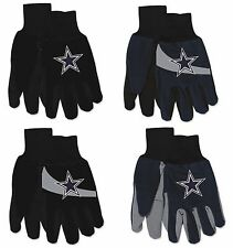 NFL Dallas Cowboys No Slip Gripper Utility Work Gardening Gloves NEW!