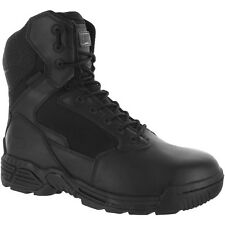 Magnum Mens Black Leather Stealth Force 8.0 CT Tactical Boots Side Zip