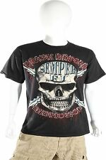 Skulbone Black Death Before Dishonor Skull Tee Short Sleeve T Shirt $20.80 CAD