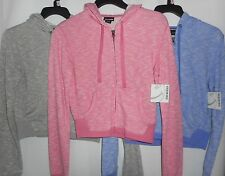 Joe Boxer Junior Girls Hoodie Sweatshirt Zipper Various Colors Sizes NWT