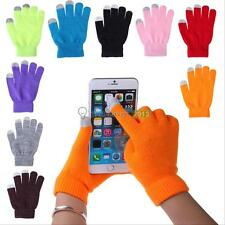 Warm Unisex Magic Full Finger Touch Smartphone Tablet Screen Winter Knit Gloves