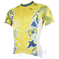 World Cup Men Short Sleeve Cycling Jersey Bicycle Bike Sportwear Rider D151a
