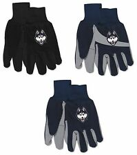 NCAA UConn Huskies No Slip Gripper Utility Work Gardening Gloves NEW!