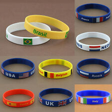2016 Rio Rubber Olympic Brazil logo Silicone  Bracelet Countries Flag Wristbands