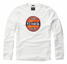 New Abercrombie & Fitch By Hollister Men's Long Sleeve Tee T Shirt White