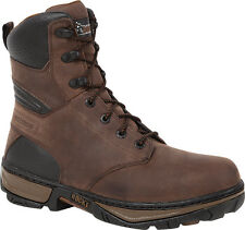 Rocky Forge Mens Brown Leather 8in Steel Toe WP Work Boots