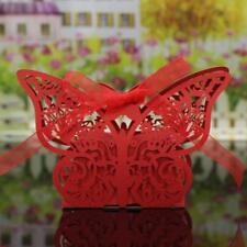 20Pcs Butterfly Sweet Candy Gift Boxes w Ribbon Wedding Party favor Choose Color