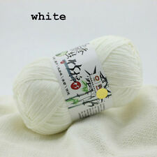 Wholesale Colors Super Soft Natural Smooth Bamboo Cotton Knitting Yarns New 50g