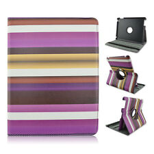 Mutil-color Rainbow Fantastic 360 Degree Rotary Stand Leather Case For Ipad2/3/4