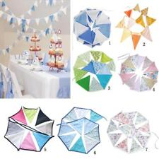 Cotton Bunting Banner Hanging Pennant Triangle Shape Flag Birthday Party Decor