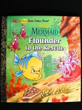 New Disney's The Little Mermaid Flounder to the Rescue - Golden Books - Toddlers