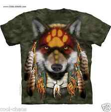 Spirit of the Native Wolf T-Shirt/Olive Tie Dye Tee,Gorgeous,Whimsical Wolf Art