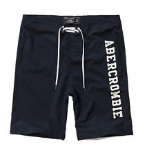 Nwt Abercrombie By Hollister Men's Board Fit Swim Shorts Navy