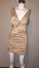 BCBG MAX AZRIA SURF BOW PARTY COCKTAIL DRESS CHAMPAGNE Size 8
