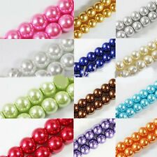 Wholesale 20/50/100Pcs Glass Pearl Round Spacer Loose Beads Makings 4/6/8/10mm
