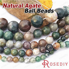1 String 6-16MM Natural Agate Round Beads Chip Beads Jewelry Findings 28754