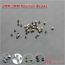 10g 2MM 3MM Brass Station Position beads Jewelry Findings Accessories 2608