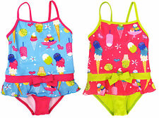 Pink Platinum Baby Girls Ice Cream One Piece Swimsuit