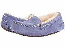Women's Shoes UGG Ansley Moccasin Slipper 3312 Pajama Blue 5 6 7 8 9 10 11 *New*