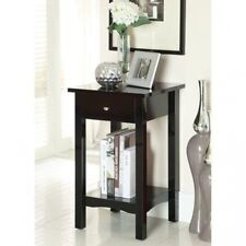 Furniture of America Single Storage Drawer Side Accent Table with Open Shelf. Sh