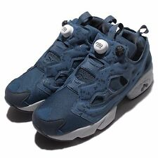 Reebok Insta Pump Fury SP Noble Blue Grey Mens Casual Shoes Sneakers AQ9800