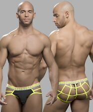 ANDREW CHRISTIAN MEN'S TROPHY BOY WEB THONG W/ SHOW-IT: BLACK - XS, S, M, L, XL