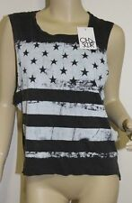 CHASER *NWT* Vintage Flag Tank Top Shirt Gray Muscle Tee ~ Size SMALL or MEDIUM