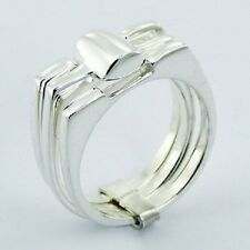 Silver ring 925 sterling silver Designer Triple Stacked modern  6us 7us 8us 9us
