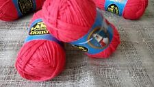 100%Cotton Yarn Knitting Crochet Red Lot 4 skeins 200g/7oz-560m/612yards. Russia