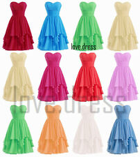 New Short Sweetheart Formal Prom Party Bridesmaid Cocktail Ball Dress Size 6-22