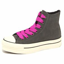 7331P sneaker alta CONVERSE ALL STAR grigio scarpa donna shoe women