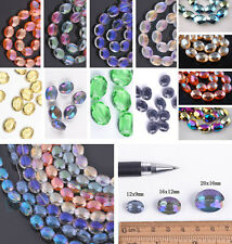 Delicate Faceted Twist Tile Helix Glass Crystal Findings Loose Spacer Beads 20mm