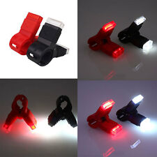 LED Bicycle Bike USB Rechargeable Clip Rear Tail Light QR Mount Taillight