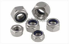 20/50/100pcs Stainless Steel Nylon Insert Lock Nut Jam Stop Nut M2/3/4/5/6/8/10
