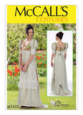 McCalls 7420 Regency Jane Austen 19th Century  Dress Gown Sewing Pattern M7420