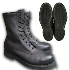Vintage 1990 Addison Shoe Co Black Steel Toe Combat Military Boots Leather 13.5