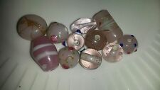 Assorted Lampwork Glass Beads 7mm-22mm Various Colours & Shapes