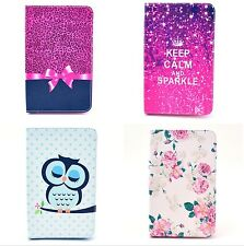 Pink Tie Rose Owl Leather Case Cover For Samsung Galaxy Note 10.1 N8000 Tablet