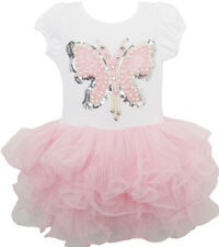 Girls Dress Butterfly Tutu Dance Pageant Party Kids Clothes Size 3-7 US Seller
