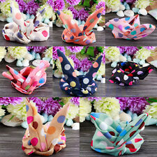 Cute Korean Girls Multi Color Bunny Ear Headband Rabbit Ear Hair Band Scarf WS