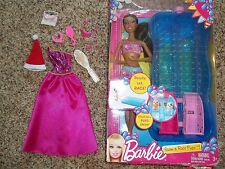 BARBIE LOT-AA NIKKI DOLL IN SWIMSUIT-NIB-+ GOWN & ACCESSORIES-MUST SEE & READ