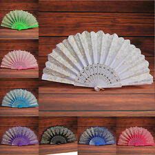 Lace Spanish Style Dance Party Wedding Lace Silk Folding Hand Held Flower Fans