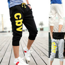Mens Casual Hip Hop Haren Jogging Gym Sports Pants Shorts Cropped Loose Trousers
