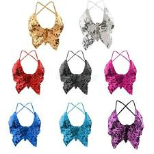 Phenovo Belly Dance Costume Straps Butterfly Top Bra Performance Practice Bra