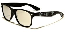 Camo Retro Style Sunglasses with Microfiber bag and FREE SHIPPING!
