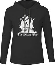 Big Texas The Pirate Bay (White) Mens Fine Jersey Hooded T-Shirt