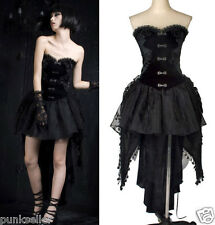 Punk Rave Victorian Gothic Corset Lolita Dolly Cosplay Fashion Dress+Skirt Q160