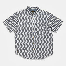 10.Deep The IKAT SS button Front shirt in White NWT 10.Deep